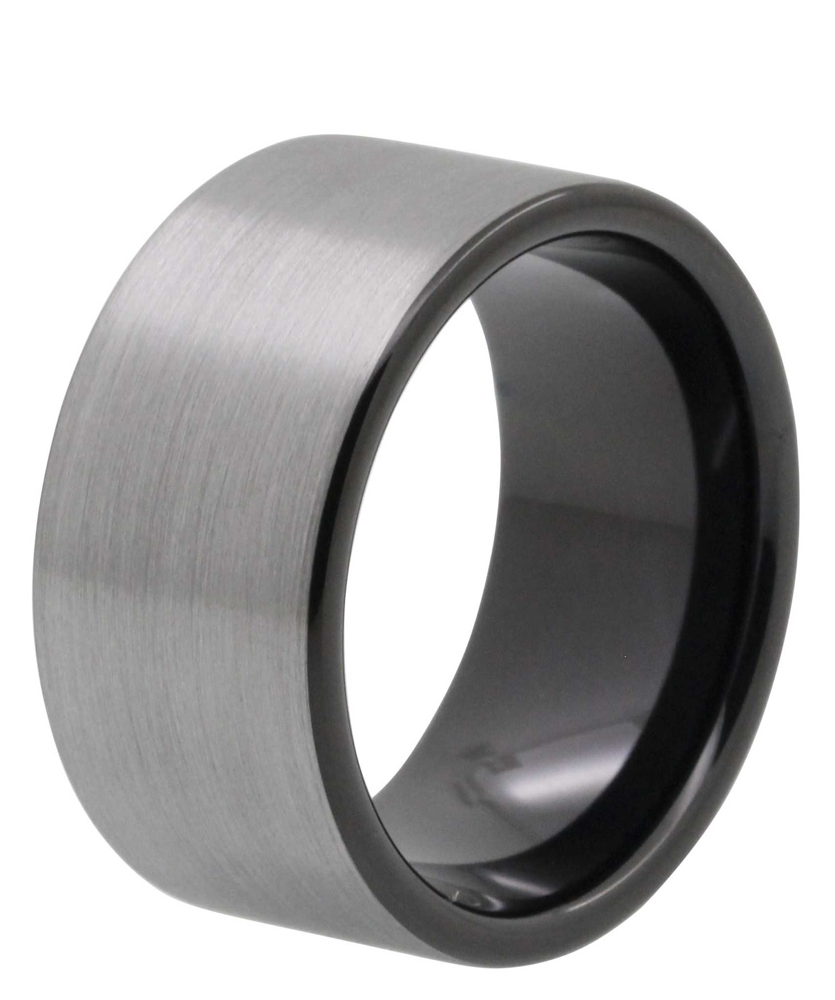 12mm brushed tayloright tungsten wedding band - Tungsten Wedding Rings For Men