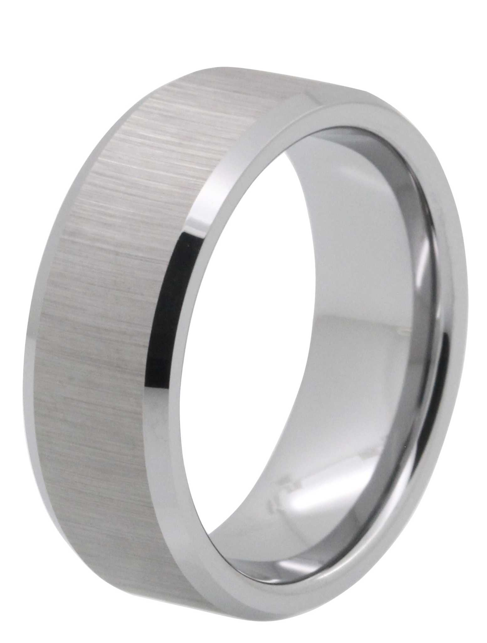 8MM Brushed Tungsten Carbide Ring