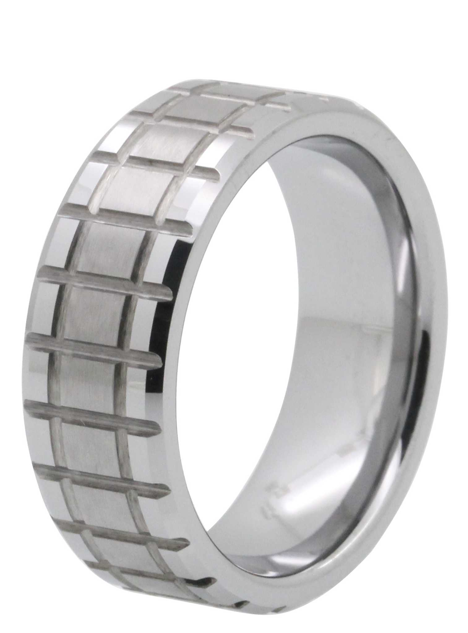 8MM Cut-Through Tungsten Wedding Band