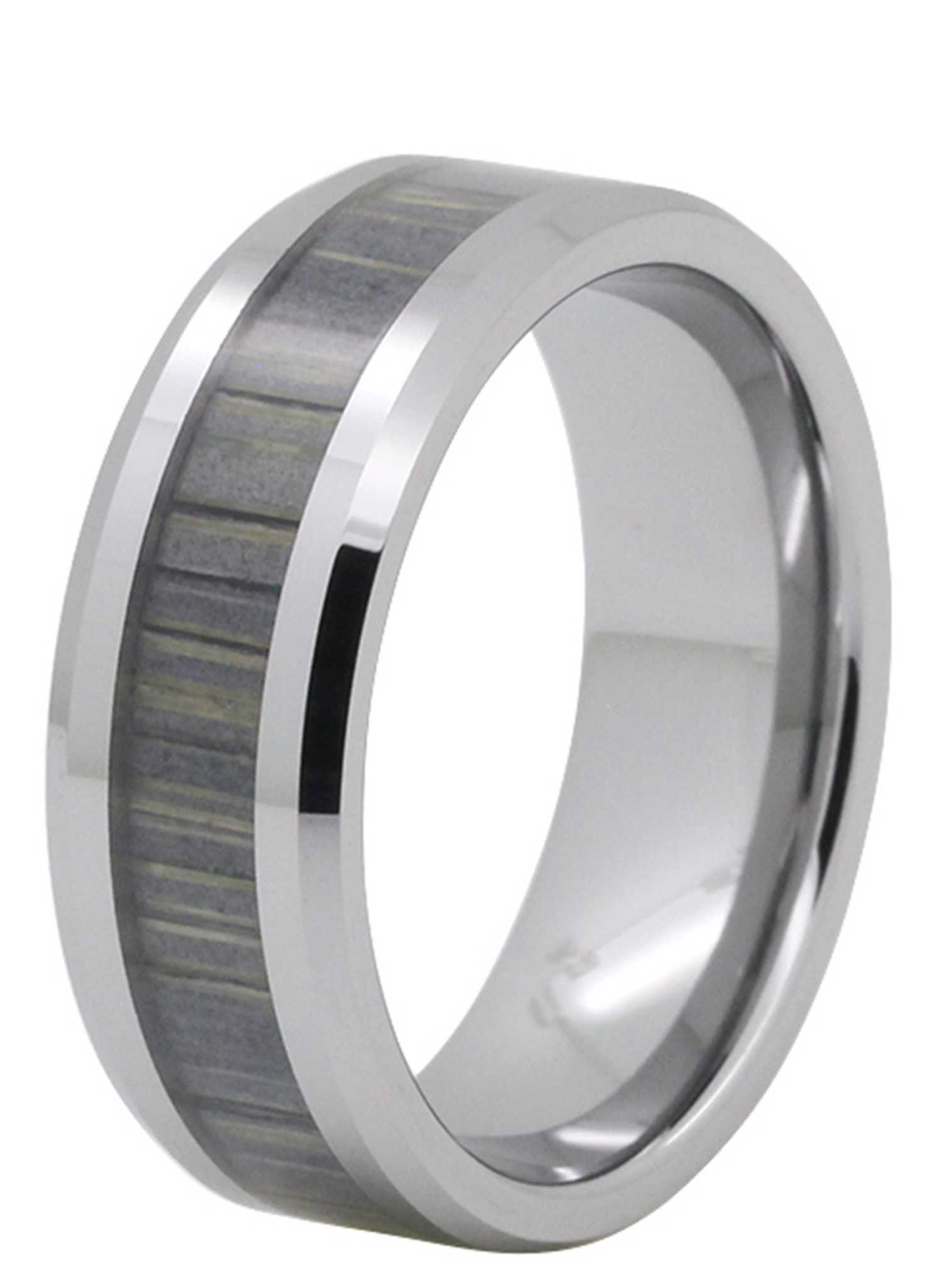 shop men 39 s inlay tungsten rings wood inlay wedding bands