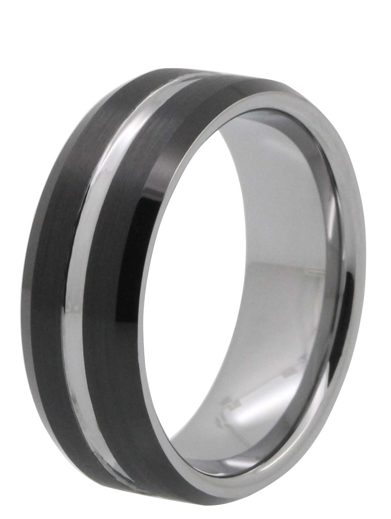8mm Two Tone Tayloright Tungsten Ring Tungsten Rings Com
