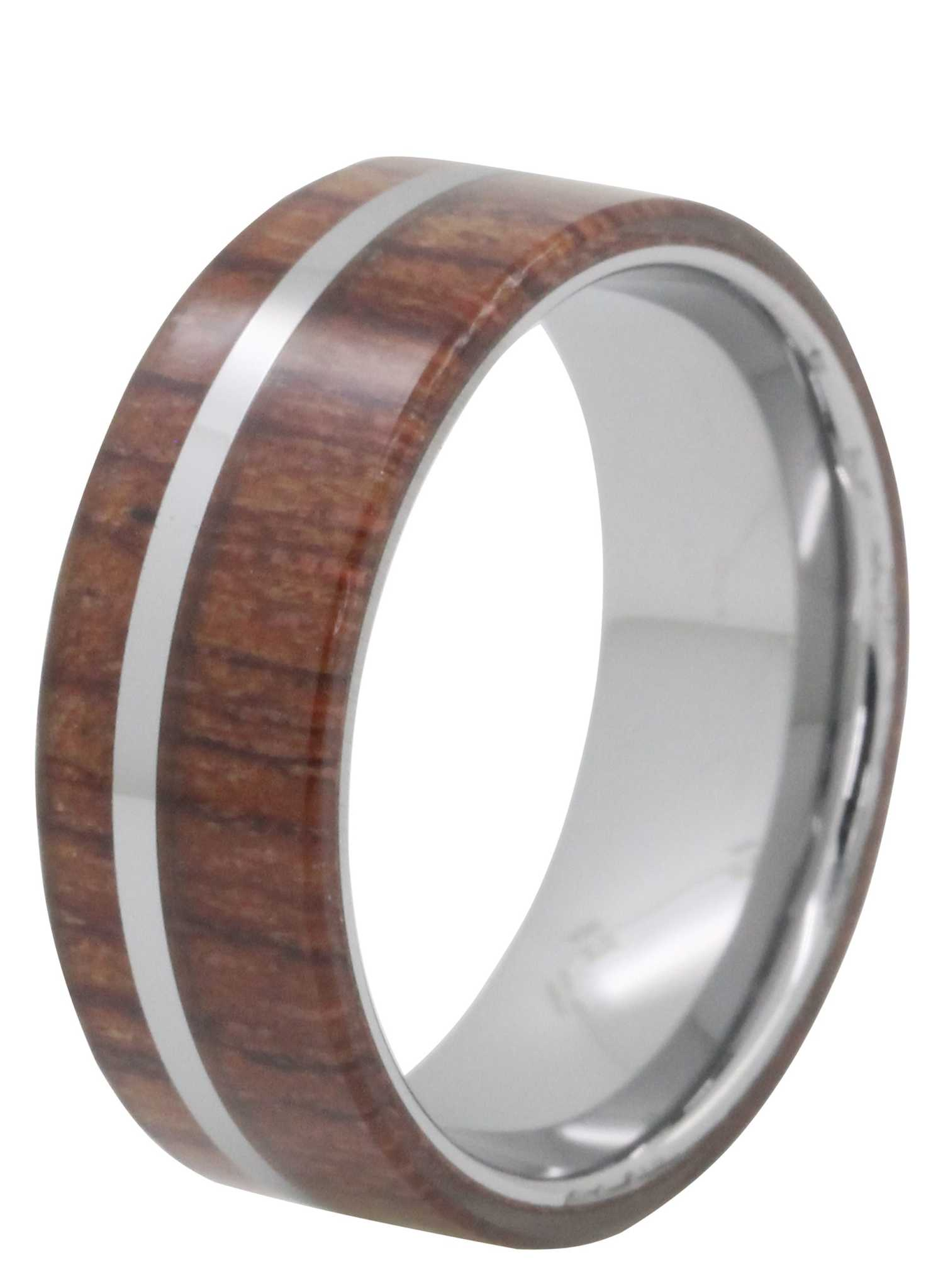8mm wood inlay tayloright tungsten ring tungsten rings com
