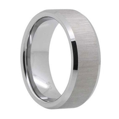 "8MM Satin Finish Tungsten Carbide Ring ""Perth"""