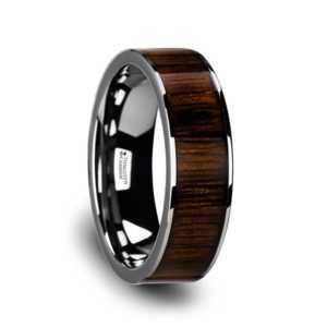 "8 mm Tungsten & Black Walnut Wood ""Lincoln"""