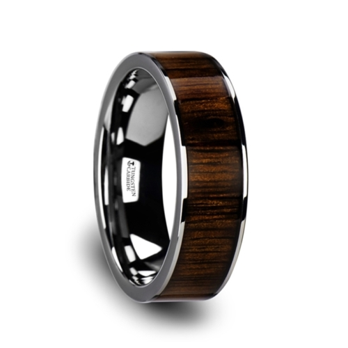 "8 mm Tungsten & Black Walnut Wood ""Lincoln"""