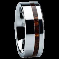 "8 mm Tungsten with KOA Wood ""Eugene"""