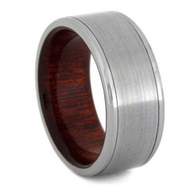 "8 mm Titanium & Bloodwood Sleeve ""Trenton"""