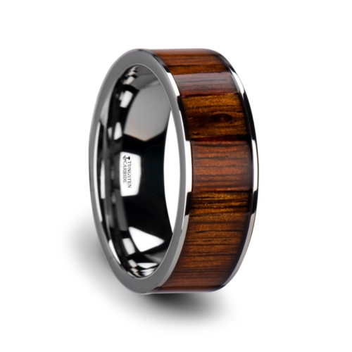 "8 mm Tungsten & KOA Wood ""Dexler"""