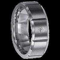 ".04 cwt Diamond Tungsten Ring ""Novum"""