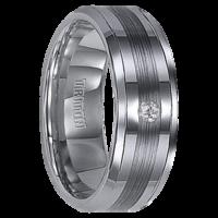 """.04 cwt Diamond Wedding Ring Tungsten """"Charvoire"""""""