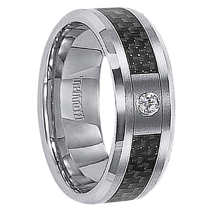 ".05 cwt Diamond Tungsten Ring ""Coronation"""