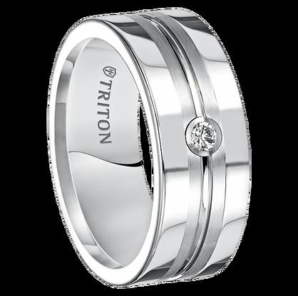 08 Cwt Diamond White Tungsten Ring Zorro