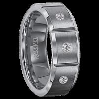 ".09 cwt Diamond Tungsten Ring ""Massalia"""