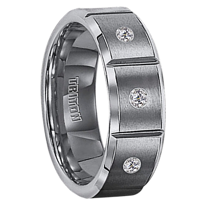 ".09 cwt Diamond Tungsten Ring ""Massalia"""