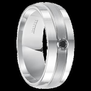 """.10 cwt Black Diamond Ring White Tungsten """"Anaheim"""""""