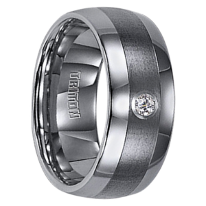 ".10 cwt Diamond Tungsten Ring ""Augusta"""