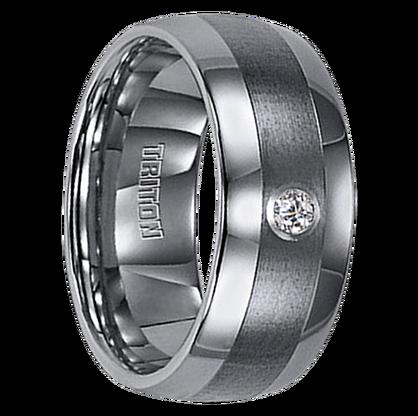 """.10 cwt Diamond Tungsten Ring """"Augusta"""""""