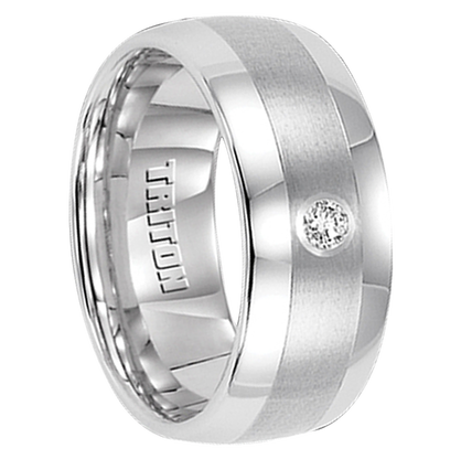 ".10 cwt Diamond Ring White Tungsten ""Centaurus"""