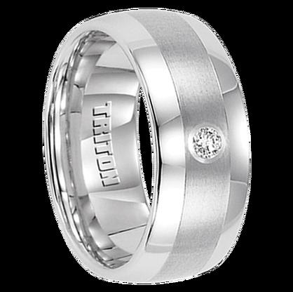 """.10 cwt Diamond Ring White Tungsten """"Centaurus"""""""