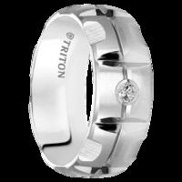 ".10 cwt Diamond White Tungsten Ring ""Jersey City"""