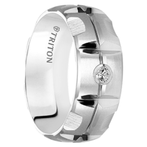 ".10 cwt Diamond White Tungsten Ring ""Jersey City"""