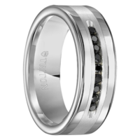 "1/4 cwt Black Diamond Silver/Tungsten Ring ""Modesto"""