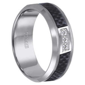 "1/6 cwt Diamond Tungsten Ring ""Florentine"""