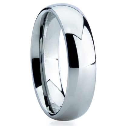 "6 mm Highly Polished Tungsten Band ""Newry"""