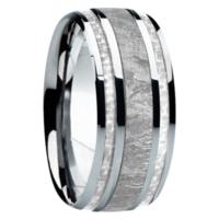 """9 mm Meteorite in Titanium Ring """"Tucson"""""""