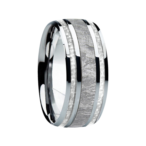 "9 mm Meteorite in Titanium Ring ""Tucson"""