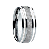 "9 mm Meteorite in Titanium Ring ""Columbus"""