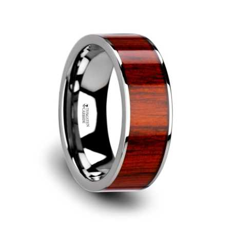 Tungsten Rings Wood Inlay Burbank