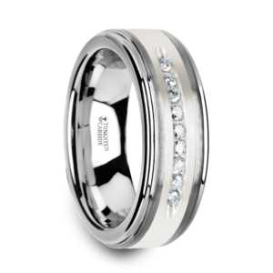 ".27 cwt Diamond Silver/Tungsten Ring ""Antipas"""