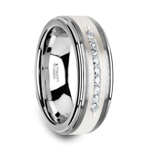 ".27 cwt Diamond Silver/Tungsten Ring ""Antipas"""
