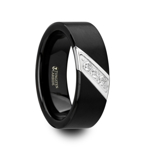 "Black Tungsten with Diagonal Diamonds  ""Martin"""