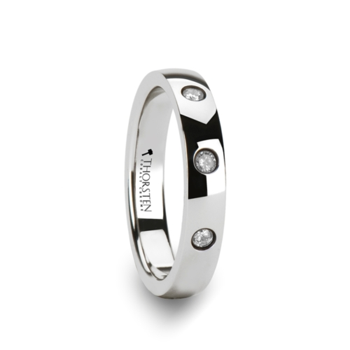 "3-Diamonds - Tungsten Rings ""Della"""