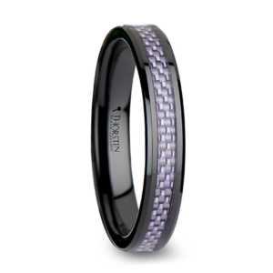 """4 mm Black Ceramic with Carbon Fiber """"Aurorian"""""""