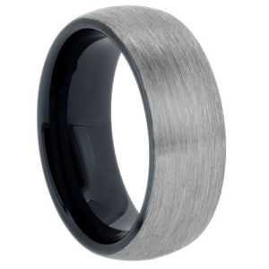 "8 mm Tungsten Rings - Black Sleeve ""Barclay"""