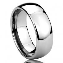 "8 mm Highly Polished Tungsten Band ""Namby"""