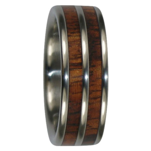 "8 mm Tungsten Rings - Dual KOA Wood Inlays ""King KOA"""