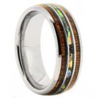 "8 mm Tungsten KOA/Shell ""Abalone"""