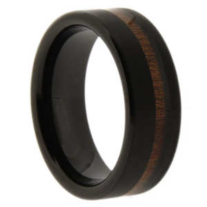 "8 mm Black Tungsten KOA ""Black KOA"""