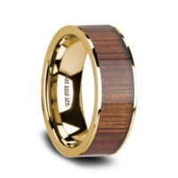 "8 mm 14 Kt. Yellow Gold & KOA Wood Inlay ""Gracious"""