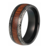 "8 mm Tungsten Rings - Laser Edges and KOA Wood Design ""Laser"""